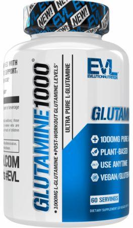 Image of Glutamine 1000 120 Veggie Capsules - Amino Acids & BCAAs EVLUTION NUTRITION