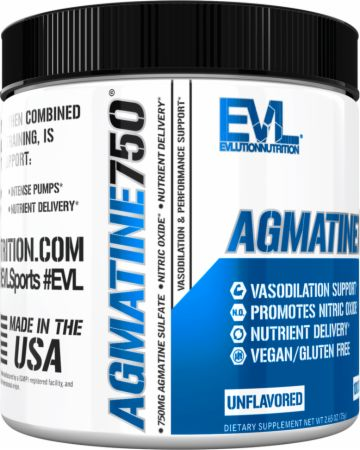 Image of Agmatine750 Unflavored 100 Servings - Nitric Oxide Boosters EVLUTION NUTRITION