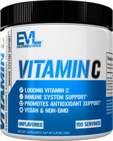 Image of EVL Vitamin C Unflavored 150 Servings - Immune System Support EVLUTION NUTRITION