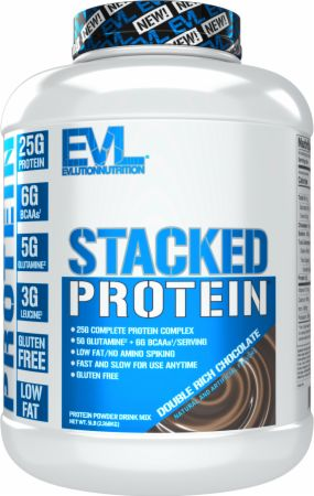 Image of Stacked Protein Double Rich Chocolate 5 Lbs. - Protein Powder EVLUTION NUTRITION