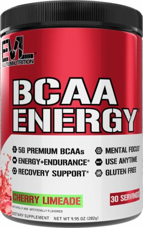 Image of BCAA Energy Amino Acids Cherry Limeade 30 Servings - Amino Acids & BCAAs EVLUTION NUTRITION