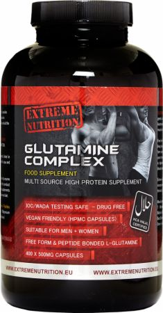 Image of Extreme Nutrition Glutamine Complex 400 Vege Capsules