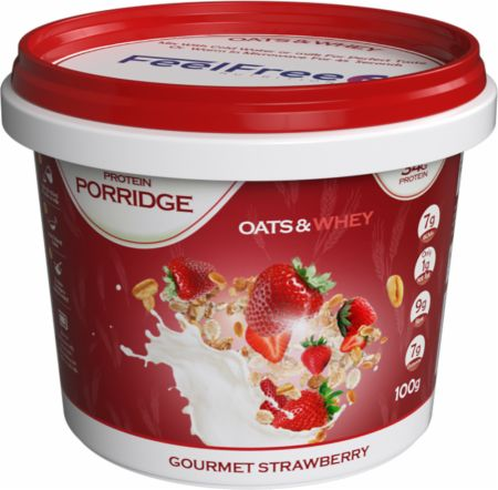 Image of Feel Free Nutrition Protein Porridge 1 - 100g Cup Gourmet Strawberry