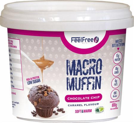 Image of Feel Free Nutrition Macro Muffin 1 - 50g Muffin Chocolate Chip Caramel