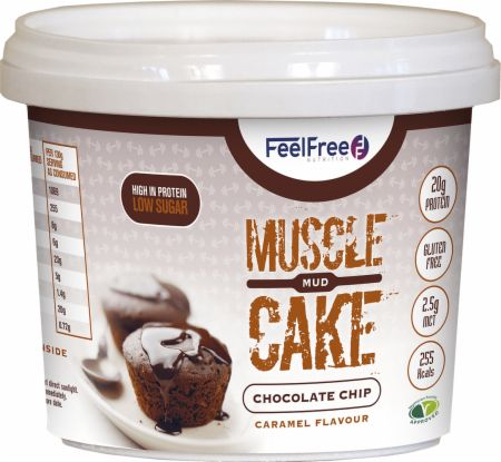 Image of Feel Free Nutrition Muscle Mud Cake 1 - 65g Cup Chocolate Chip