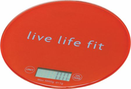 Image of fitlosophy Digital Food Scale Red