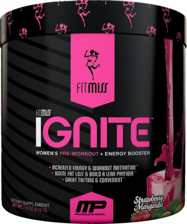 FitMiss Ignite Strawberry Margarita 30 Servings - Pre-Workout Supplements