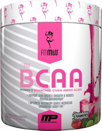 FitMiss BCAA Strawberry Margarita 30 Servings - Amino Acids & BCAAs