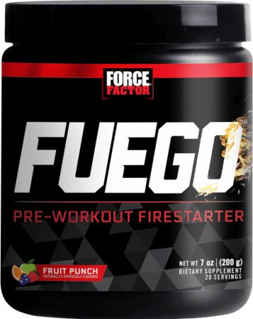 Fuego Fruit Punch 20 Servings - Pre-Workout Supplements Force Factor