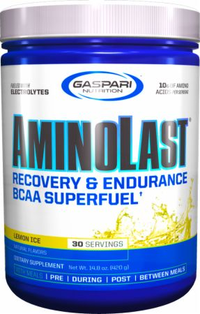 Image of AMINOLAST Lemon Ice 420 Grams - Amino Acids & BCAAs Gaspari Nutrition