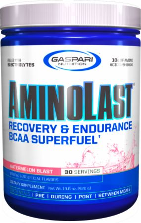 Image of AMINOLAST Watermelon Blast 420 Grams - Amino Acids & BCAAs Gaspari Nutrition