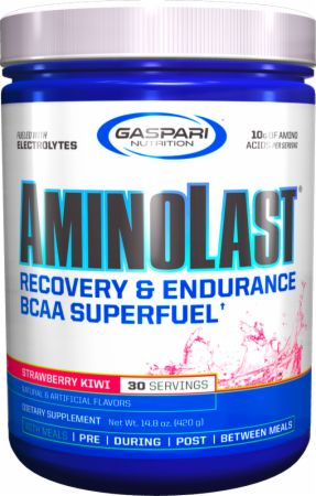 Image of AMINOLAST Strawberry Kiwi 420 Grams - Amino Acids & BCAAs Gaspari Nutrition