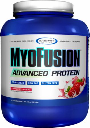 Image of MyoFusion Advanced Protein Strawberries & Cream 4 Lbs. - Protein Powder Gaspari Nutrition