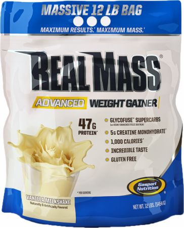 Image of Real Mass Advanced Vanilla Milkshake 12 Lbs. - Mass Gainers Gaspari Nutrition