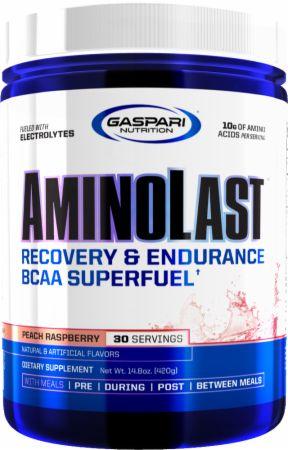 Image of AMINOLAST Peach Rasberry 30 Servings - Amino Acids & BCAAs Gaspari Nutrition