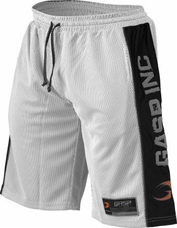 Image of GASP #1 Mesh Shorts Large White/Black