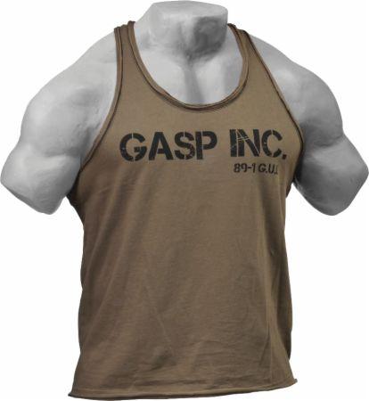Image of GASP Division Jersey Tank Medium Wash Khaki