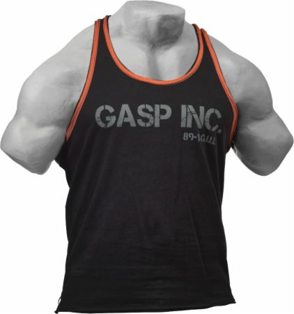 Image of GASP Division Jersey Tank Large Black/Flame