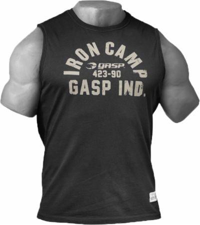 Image of GASP Throwback Sleeveless Tee S Wash Black