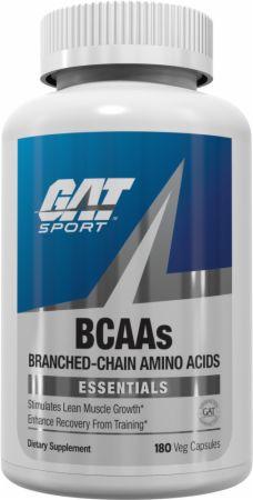 GAT BCAAs 180 Veg Capsules - Amino Acids & BCAAs