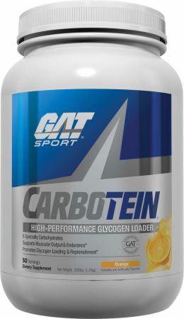 Image of Carbotein Orange 3.85 Lbs. - Post-Workout Recovery GAT Sport