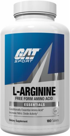 Image of L-Arginine 180 Tablets - Amino Acids & BCAAs GAT Sport