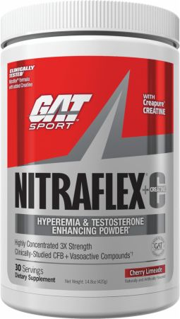 Nitraflex + Creatine Cherry Limeade 30 Servings - Pre-Workout Supplements GAT