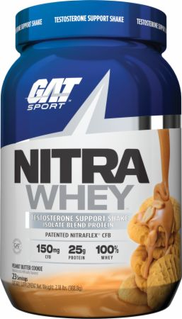 Image of Nitra Whey Peanut Butter Cookie 2 Lbs. - Protein Powder GAT Sport