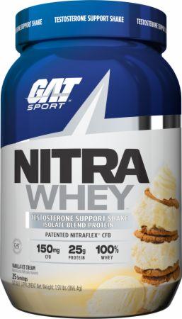 Image of Nitra Whey Vanilla Ice Cream 2 Lbs. - Protein Powder GAT Sport