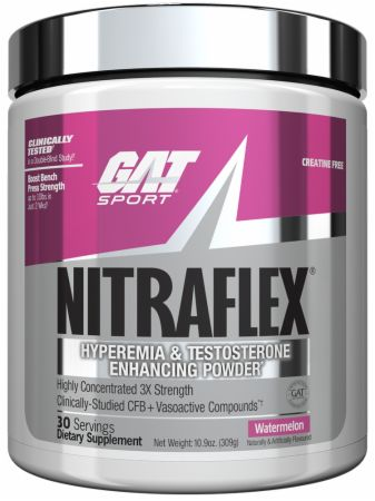 Image of NITRAFLEX Pre Workout Watermelon 30 Servings - Pre-Workout Supplements GAT