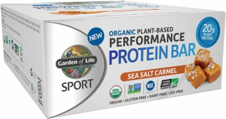 Garden Of Life Sport Organic Plant-Based Performance Protein Bar Sea Salt Caramel 12 Bars - Protein Bars