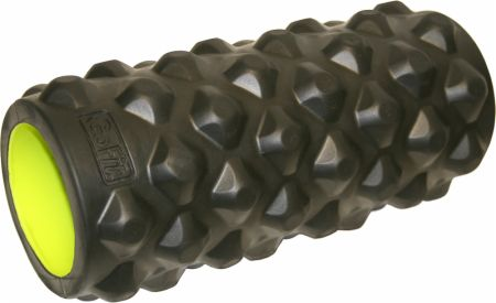 Extreme Massage Roller Black/Lime Green 13 Inches - Foam Rollers GoFit
