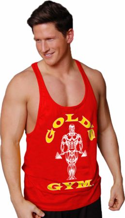 Image of Gold's Gym Muscle Joe Premium Stringer Tank Medium Red