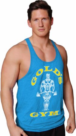 Image of Gold's Gym Muscle Joe Premium Stringer Tank Large Turquoise