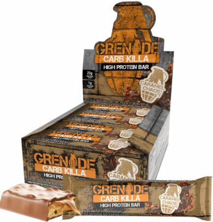 Grenade Carb Killa Caramel Chaos 12 - 60g Bars - Protein Bars