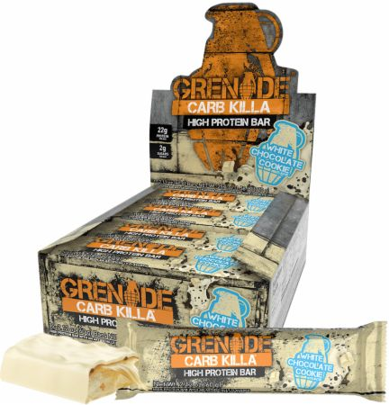 Grenade Carb Killa White Chocolate Cookie 12 - 60g Bars - Protein Bars