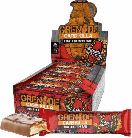 Grenade Carb Killa Peanut Nutter 12 - 60g Bars - Protein Bars