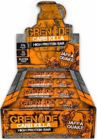 Grenade Carb Killa Jaffa Quake 12 - 60g Bars - Protein Bars