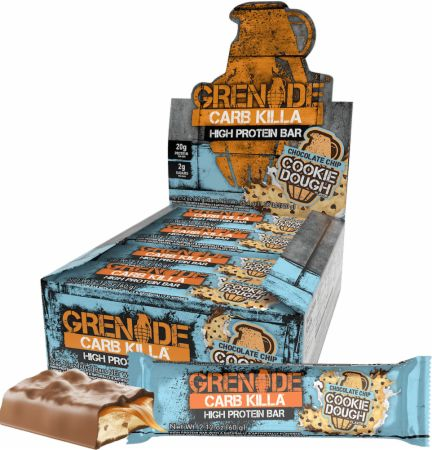 Grenade Carb Killa Chocolate Chip Cookie Dough 12 - 60g Bars - Protein Bars