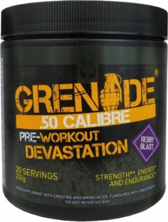 Image of .50 Calibre Berry Blast 232 Grams - Pre-Workout Supplements Grenade