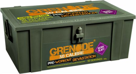 Image of .50 Calibre Berry Blast 580 Grams - Pre-Workout Supplements Grenade