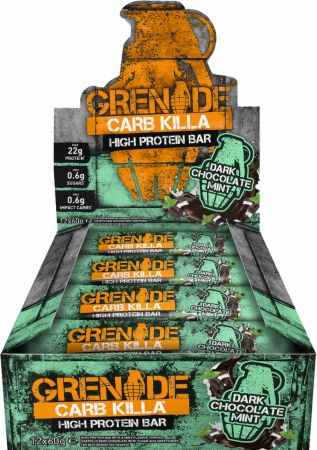 Image of Grenade Carb Killa 12 - 60g Bars Dark Chocolate Mint