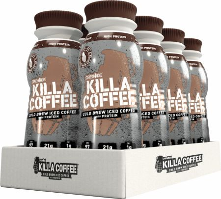 Image of Grenade Killa Coffee 8 x 250ml Bottles Cold Brew Iced Coffee