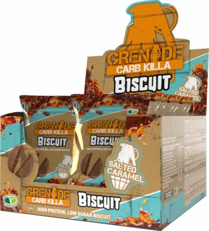 Image of Carb Killa Biscuit Salted Caramel 12 x 2 - 25g Biscuits - Protein Bars Grenade
