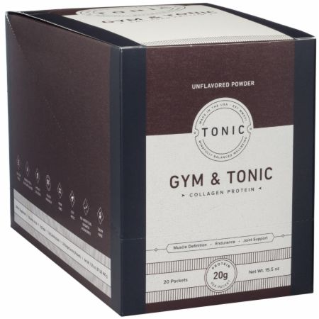 Image of Collagen Protein Unflavored 20 - 22g Packets - Protein Powder Gym & Tonic