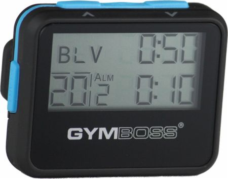 Image of Gymboss Interval Timer & Stopwatch Black/Blue