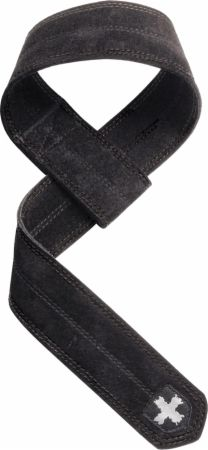 Image of DuraHide Leather Lifting Straps Black 10 Inches - Weight Lifting Straps Harbinger