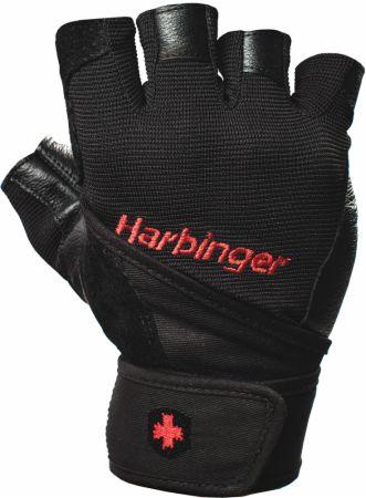 Image of Pro WristWrap Gloves Black Large - Workout Gloves Harbinger