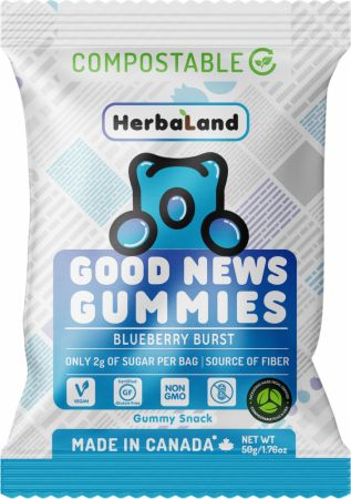 Image of Good News Gummies Blueberry Burst 1 - 50g Pouch - Healthy Snacks & Foods Herbaland