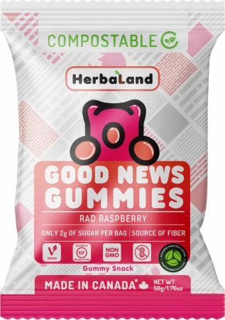 Image of Good News Gummies Rad Raspberry 1 - 50g Pouch - Healthy Snacks & Foods Herbaland